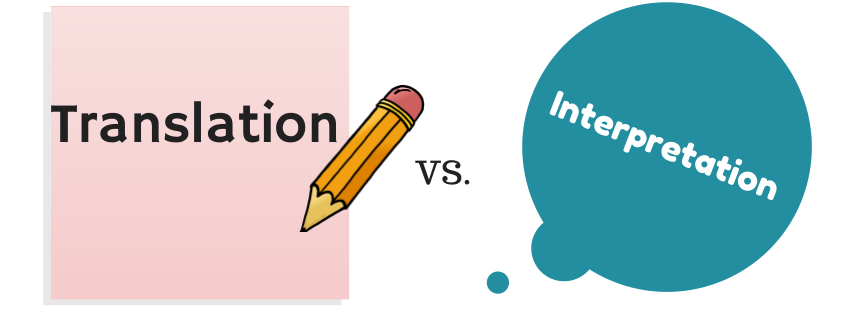 difference between translation and interpretation Interpretation is a complex thinking process and interpreter works under high tension that's because the correspondence between the two languages are not reflected in the surface structure, but reflects the deep meaning lies.