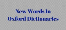 New Words In Oxford Dictionaries